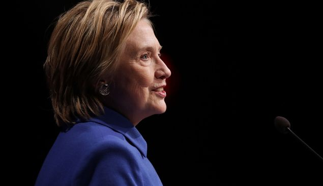 Former Secretary of State and former Democratic Presidential nominee Hillary Clinton delivers remarks while being honored during the Children's Defense Fund's Beat the Odds Celebration at the Newseum November 16, 2016 in Washington, DC. This was the first time Clinton had spoken in public since conceeding the presidential race to Republican Donald Trump.