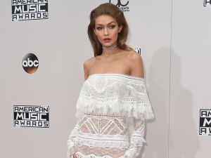 Gigi Hadid in Cavalli Couture.