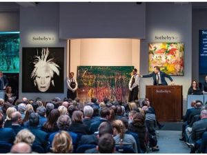 Auctions underway at Sotheby's.
