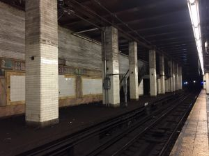 The once opulent station of Chambers Street is now full of eerily deserted tunnels.