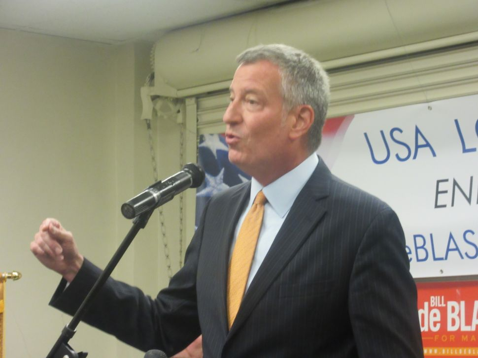 Bill de Blasio Launches 2017 Reelection Bid With First Union Endorsement