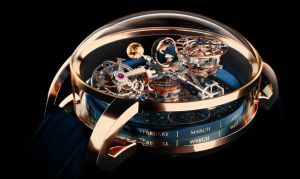 Priced at more than half-a-million dollars, the Astronomia is a solar system on your wrist, spinning constantly. This timepiece has been on my wish list since it was introduced. I keep playing the lottery…540,000 CHF