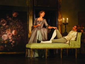 Janet McTeer and Liev Schreiber in Les Liasons Dangereuses.