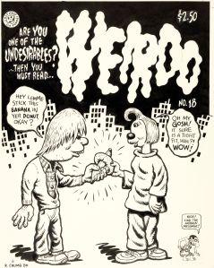 Robert Crumb, A Benefit Portfolio In Defense of the First Amendment, Unpublished 'Weirdo #18' Cover Original Art (Last Gasp/CBLDF, 1987).