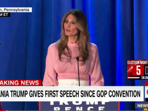 Melania Trump gives a speech about social media bullying, and her plans as first lady