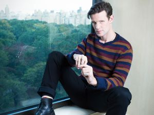 Actor Matt Smith at the JW Marriott Essex House in Manhattan