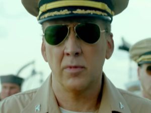 Nicholas Cage as Captain McVay in USS Indianapolis: Men of Courage.