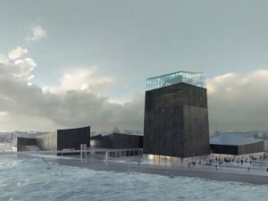 A rendering of the proposed design for a Guggenheim museum in Helsinki.
