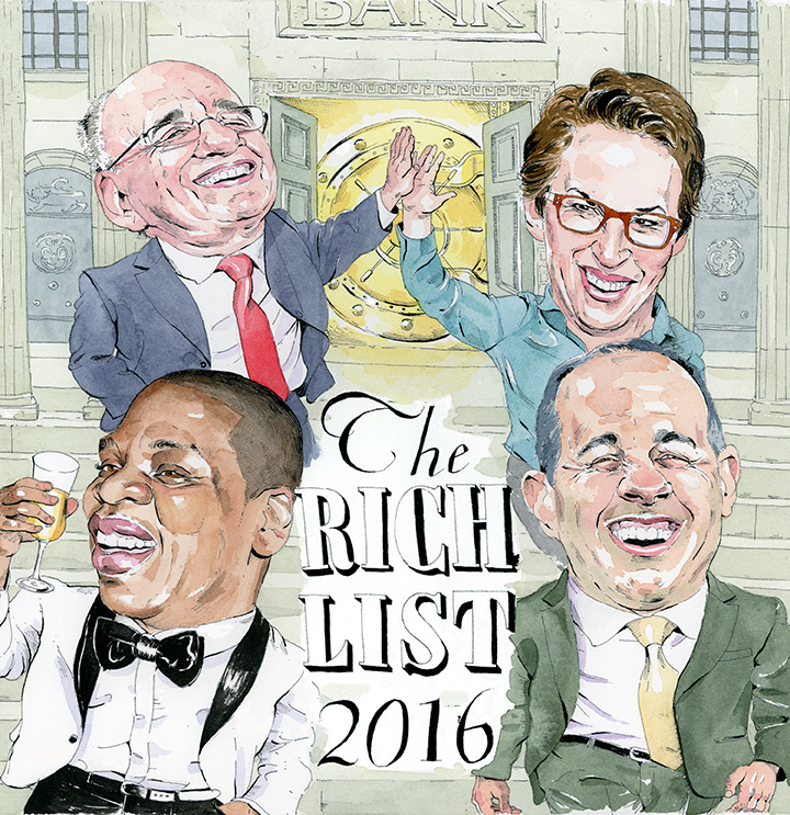 The Rich List: NYC's Best-Paid Athletes, Musicians, Comics, Anchors and Media Honchos