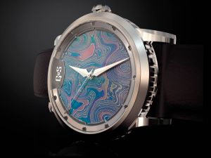 From the world's most popular name in watches to one that very few have heard about, GoS from Sweden, this brand specializes in the use of Damascus steel, which makes the dial of the Sarek unique amongst all watches on the market. $7,800