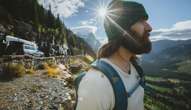 The Rhone brand is all about embracing rugged masculinity in the great outdoors.