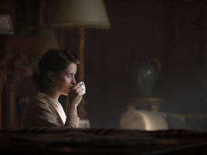 Claire Foy as Elizabeth II.