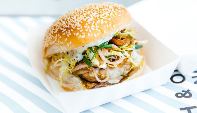 The NoMad chicken burger is accessible luxury.