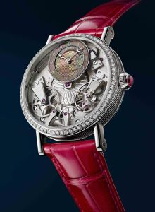Designed specifically for women, this watch showcases high watchmaking. $38,900
