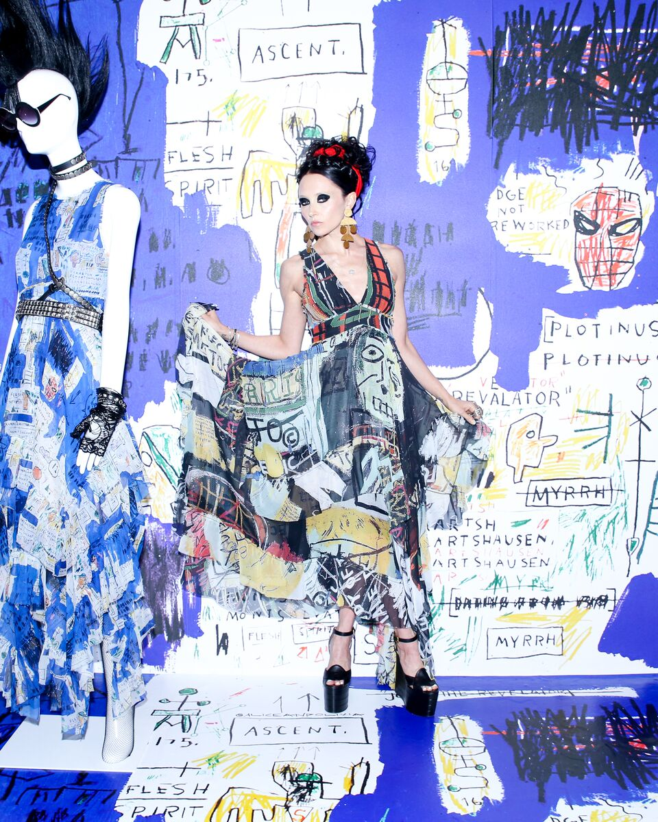 Alice + Olivia Parties for Basquiat, British Vogue Says Cleavage Is Over