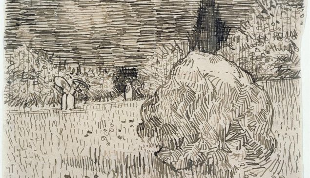 A sketch by Van Gogh (not one from the book in dispute).