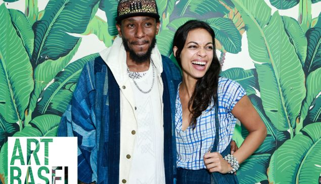 Mos Def, Rosario Dawson== Cocktails and Dinner to Celebrate the Release of Matthew Chevallard from Del Toro x The Surf Lodge Shoe, Featuring Artists Katherine Bernhardt and Eduardo Sarabia== The Surf Lodge Bungalow, Miami Beach, FL== December 1, 2016== ©Patrick McMullan== Photo - Gonzalo Marroquin/PMC== ==