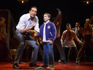Nick Cordero as Sonny and Hudson Loverro as young Calogero.