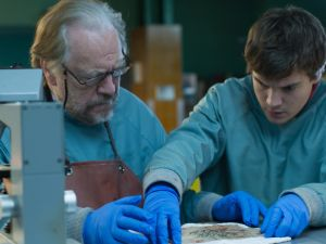 Brian Cox and Emile Hirsch in The Autopsy of Jane Doe.