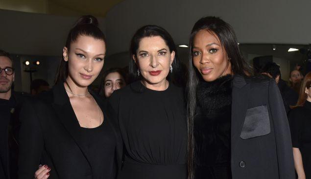 Bella Hadid, Marina Abramovic, Naomi Campbell.