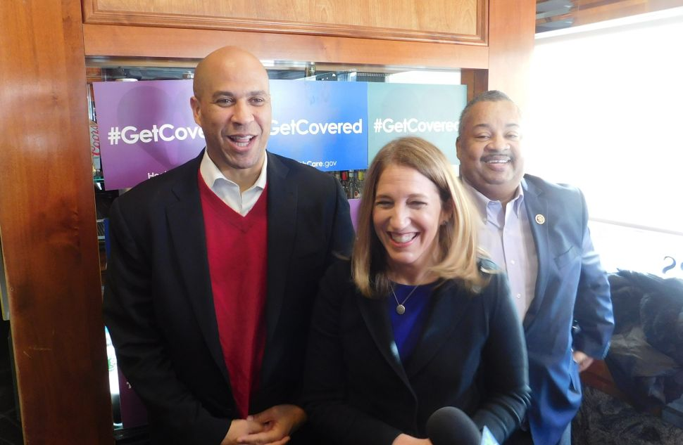 Booker Says He Is Ready to Fight for Obamacare