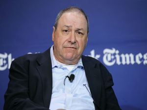 Joe Nocera speaks onstage during the New York Times Schools for Tomorrow conference at New York Times Building on September 17, 2015 in New York City.