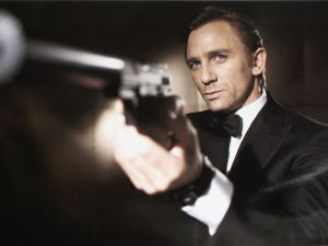 UNDATED: In this undated handout photo from Eon Productions, actor Daniel Craig poses as James Bond. Craig was unveiled as legendary British secret agent James Bond 007 in the 21st Bond film Casino Royale, at HMS President, St Katharine's Way on October 14, 2005 in London, England.
