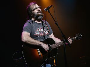 Steve Earle performs at the Bring 'Em Home Now! 3rd Iraq War Anniversary Concert at Hammerstein Ballroom March 20, 2006 in New York City. (Photo by )