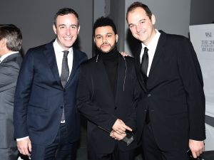 Will Guidara with The Weeknd and Daniel Humm at the WSJ Magazine 2016 Innovator Awards.