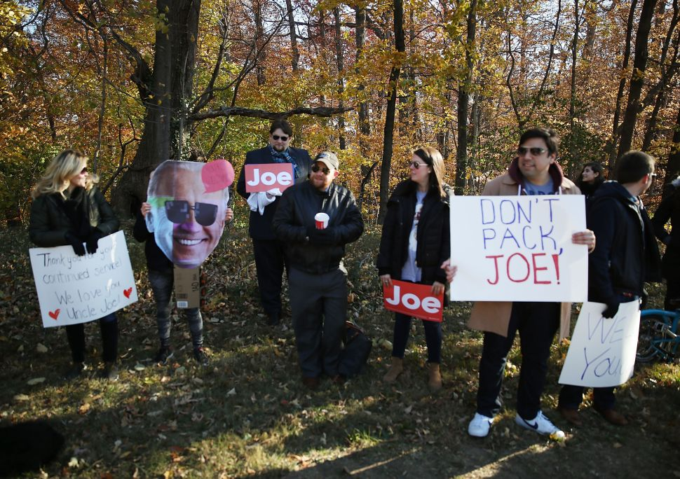 A Gasping, Nostalgic Establishment Clings to Joe Biden