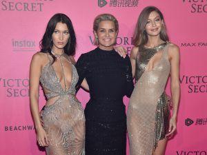 Bella Hadid, Yolanda Hadid and Gigi Hadid.