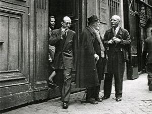 Henri Matisse and Fernand Mourlot in Paris in 1946.