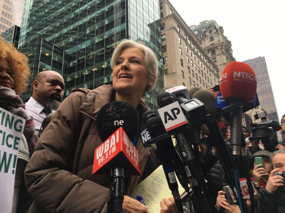 Jill Stein Demands Donald Trump End 'Intimidation' Against Vote Recount Efforts