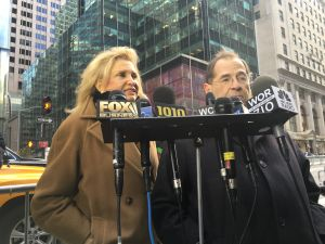 Congresswoman Carolyn Maloney called on the federal government to fully reimburse the city for money spent protecting the president-elect across the street from Trump Tower.