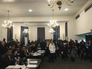 Minority- and women-owned businesses at an MWBE open house in the Bronx organized by the city's MWBE Office and the Department of Small Business Services.