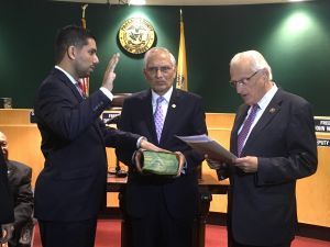 Akhter was sworn in by Congressman Pascrell as the new Passaic County freeholder.