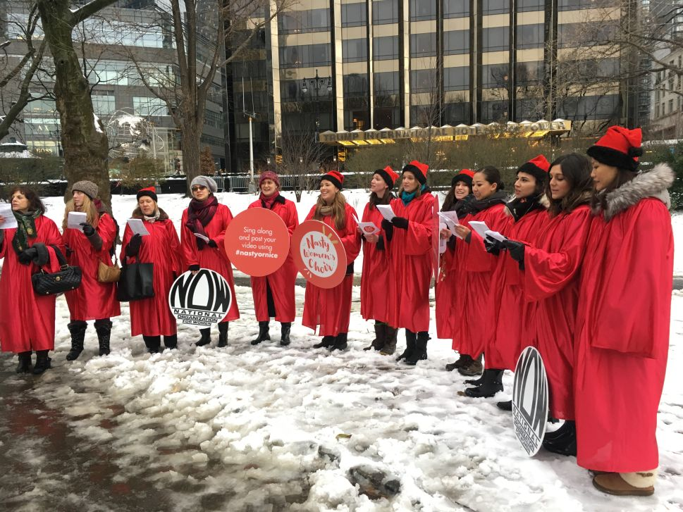 Nasty Women's Choir Spreads 'Nastiness' to Trump to Protect Reproductive Rights