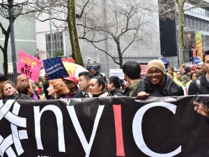 "Public Advocate Letitia James and Council Speaker Melissa Mark-Viverito participated in the ""March for Immigrant New York"" today organized by the New York Immigration Coalition."
