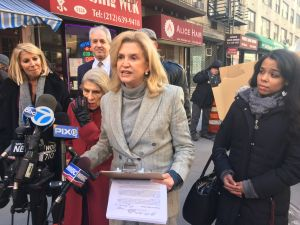 Congresswoman Carolyn Maloney.