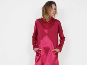 Côme Êve Stand-up Collar Dress, $429, Come-editions.fr.