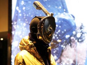 Mannuequins sport GoPro H20 Ninja snorkeling masks.