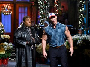 Kenan Thompson and Saturday Night Live host John Cena.