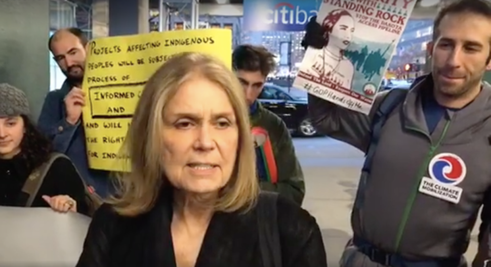 Gloria Steinem Joins Dakota Access Pipeline Protest to Call for Citibank Boycott