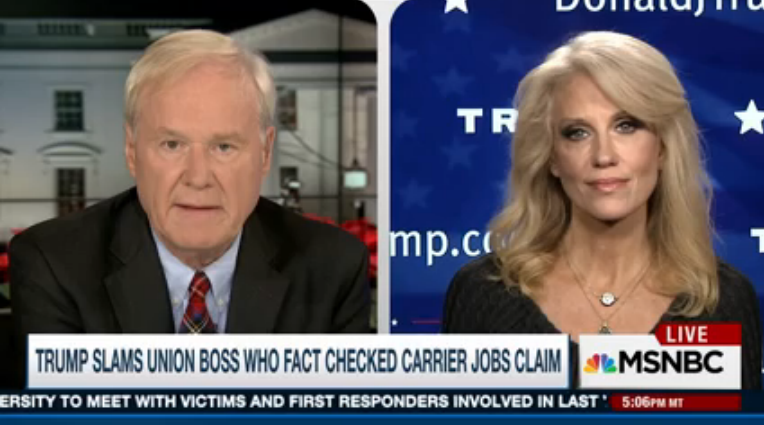 Kellyanne Conway on MSNBC: Donald Trump 'Rarely Draws First Blood'