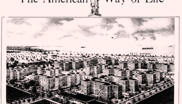 An ad for Shore Haven Apartments in Brooklyn.