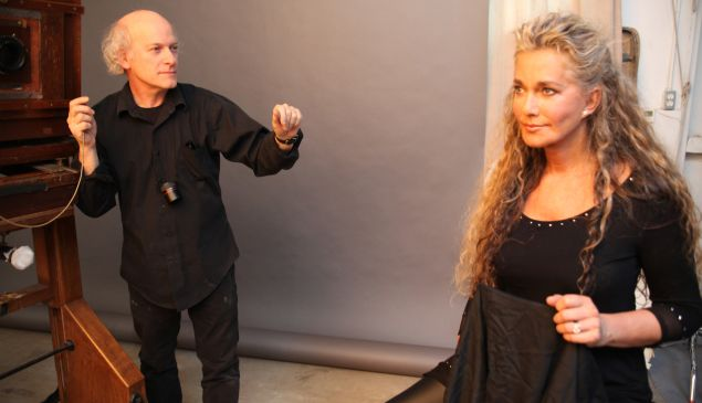 Timothy Greenfield-Sanders and Caroline Cossey.