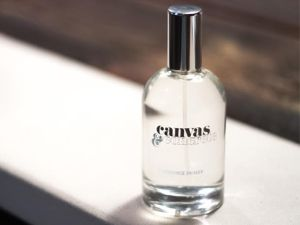 Bottle of Canvas & Concrete fragrance primer.