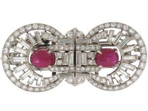 Art Deco ruby and diamond.