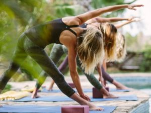 Get ready for yoga in paradise.