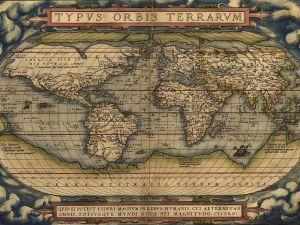 The world Ortelius' Typus Orbis Terrarum, first published 1564.